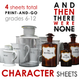 And Then There Were None CHARACTER TRACKING