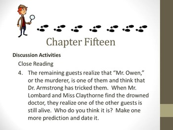 And Then There Were None Chapter Fifteen Teaching Resources