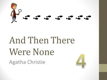 And Then There Were None Chapter Four Teaching Resources