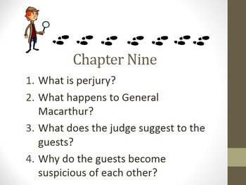 And Then There Were None Chapter Nine Teaching Resources