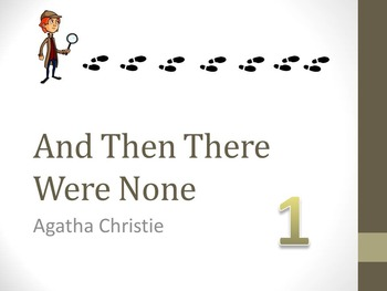 And Then There Were None Chapter One Teaching Resources
