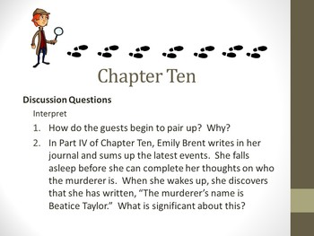 And Then There Were None Chapter Ten Teaching Resources