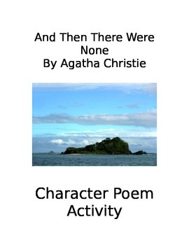 And Then There Were None Character Poem assignment
