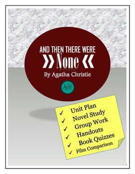 And Then There Were None Complete Unit & Novel Study