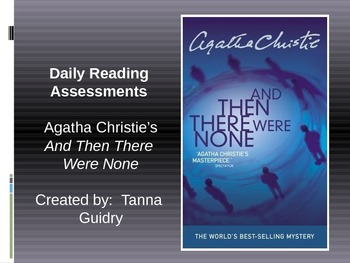 A. Christie's And Then There Were None (Daily Reading Quizzes)