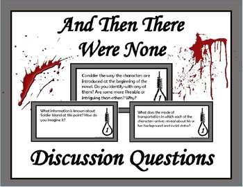 And Then There Were None Discussion Questions