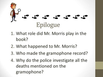 And Then There Were None Epilogue Teaching Resources