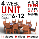 And Then There Were None FOUR WEEK UNIT for Grades 6-12! CCSS-Aligned!