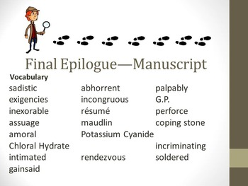 And Then There Were None Final Epilogue (Manuscript) Teaching Resources