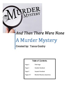 A. Christie's And Then There Were None (Murder Mystery)