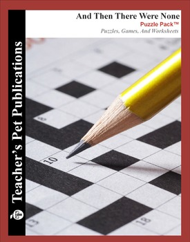 And Then There Were None: Puzzle Pack - Crosswords, Worksheets, Games