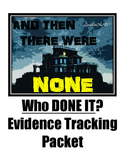 And Then There Were None -Who Done It? Evidence Tracking Packet