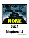 And Then There Were None Quiz (chapters 1-4)