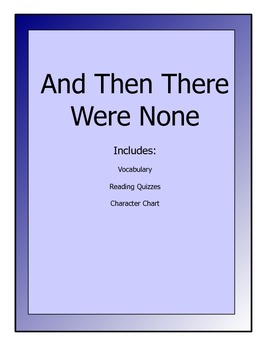 And Then There Were None novel lesson packet - vocab, reading quizzes, etc