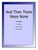 And Then There Were None novel lesson packet - vocab, read