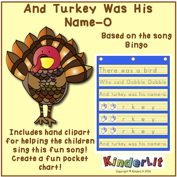 And Turkey Was His Name O Thanksgiving Song Pocket Chart
