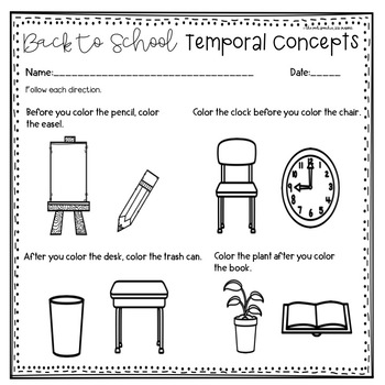 Back to School Speech Therapy   Beginning of the Year Activities