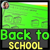 Back to School Speech Therapy | Beginning of the Year Activities