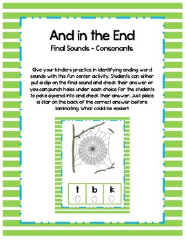 And in the End - End Consonant Sounds