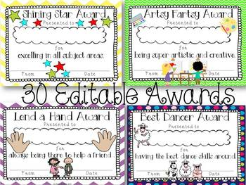And the Award Goes To... {Editable End of the Year Awards}