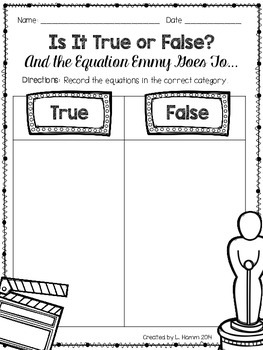 And the Emmy Goes To... True/False Equation Sort