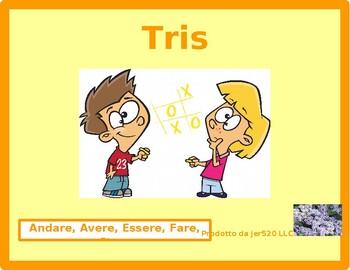 Andare, Avere, Essere, Fare, Stare Italian verbs Tic Tac Toe