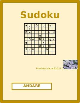 Andare Italian verb present tense Sudoku