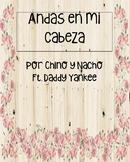Andas en Mi Cabeza by Chino y Nacho: Pre, During and Post Movie Talk activities