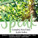 Speak Literature Guide Unit Plan, Laurie Halse Anderson