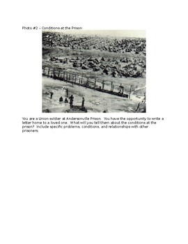 Andersonville Prison Writing Prompt