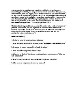 Andersonville Worksheet
