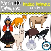 Andes Animals Animales del Andes Clip Art