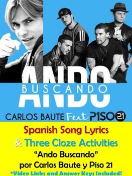 Ando Buscando Song Lyrics and Activities in Spanish - Carlos Baute - Musica