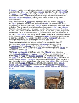 Andres Mountains Article