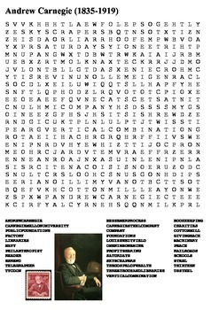 Andrew Carnegie Word Search