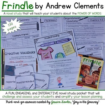 Andrew Clements Novel Studies GROWING BUNDLE