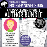Andrew Clements Novel Study Bundle 1