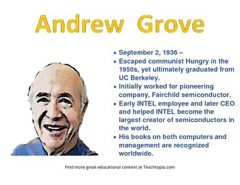 Andrew Grove Famous Computer Scientist Poster STEM
