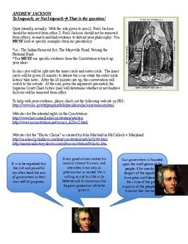 Andrew Jackson Activity/ Debate
