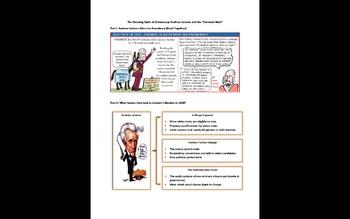 Andrew Jackson U.S. History: Graphic Organizers & Crash Course #14