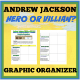 Andrew Jackson Hero or Villain Graphic Organizer