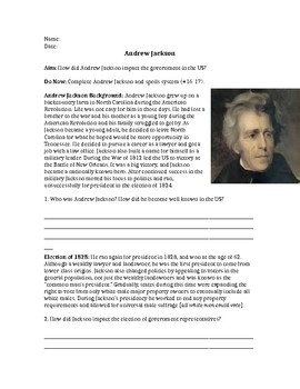 Andrew Jackson: Impact on the Government