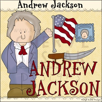 Andrew Jackson ~NO LICENSE REQUIRED CLIPART COLLECTION~