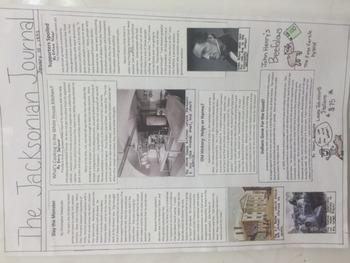 Andrew Jackson Newspaper Bundle