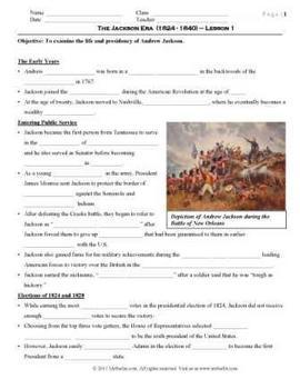Andrew Jackson Pack (PPT, DOC, PDF)