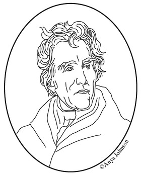 Andrew Jackson (7th President) Clip Art, Coloring Page or Mini Poster
