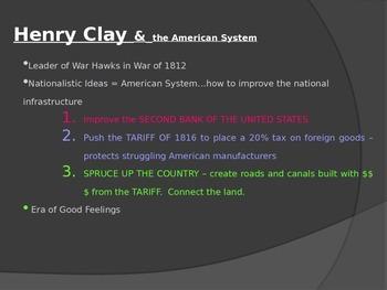 Andrew Jackson PowerPoint #2- AP US History Aligned