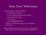 Andrew Jackson PowerPoint- Grade 8-12
