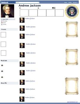 Andrew Jackson Presidential Fakebook Template