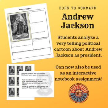 Andrew Jackson Primary Source Analysis